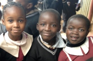 These are school children at the school in Nairobi Kenya that we ministered to.