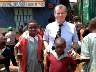 We visited an orphanage in Nairobi. These children wanted to have their picture taken with me.