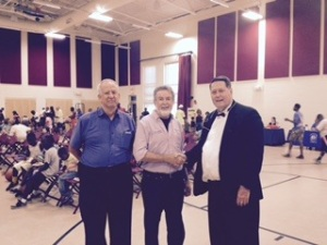 """Gary Ginsky, W.T. Leggett, and Dr. Bill Haag at the """"Brake the Cycle of Addiction Rally."""""""